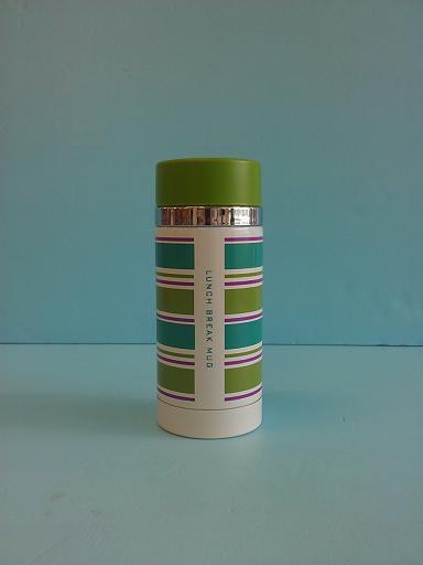 條紋炫彩杯200ml 綠蓋