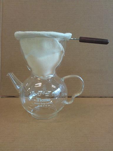 滴漏咖啡壺 附木柄濾布-咖啡專業器材-咖啡滴漏壺及比利時壺