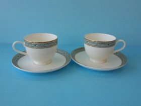 2客咖啡杯 金綠-咖啡專業器材-咖啡杯系列