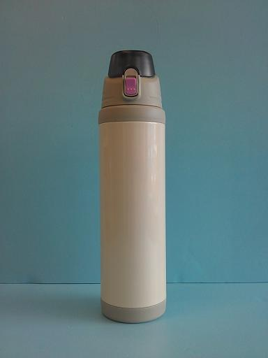 彈蓋式保溫瓶1100ml 附杯袋(粉)