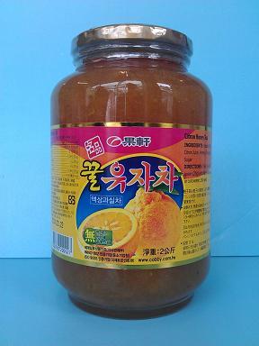 蜂蜜柚子茶2KG/大韓果軒
