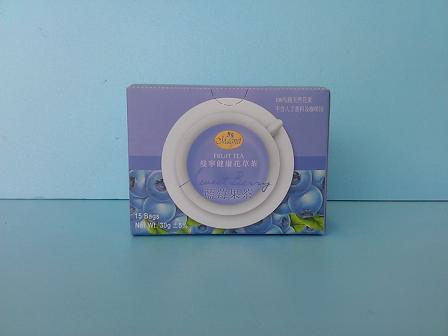 藍莓果平面茶包2g 15包-曼寧