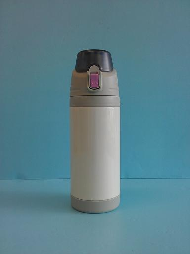 彈蓋式保溫瓶600ml 附杯袋(粉)