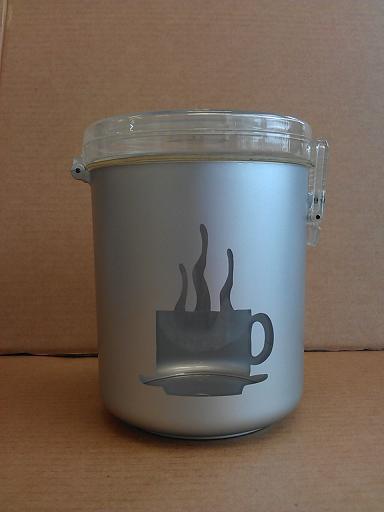 密封罐 咖啡杯透明圖樣