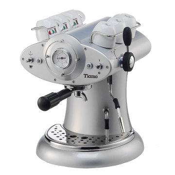 Tiamo 外星人義式咖啡機 極光銀-咖啡機-Tiamo咖啡機