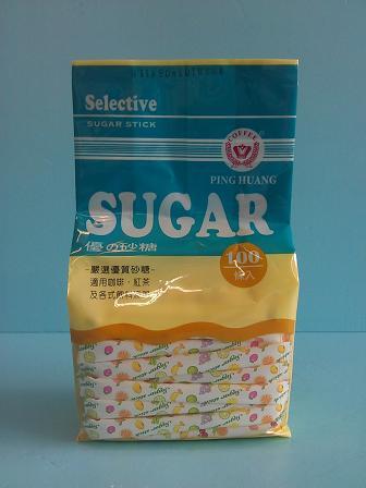 水果圖樣條砂 3g 100入-咖啡周邊商品-糖包及蜂蜜