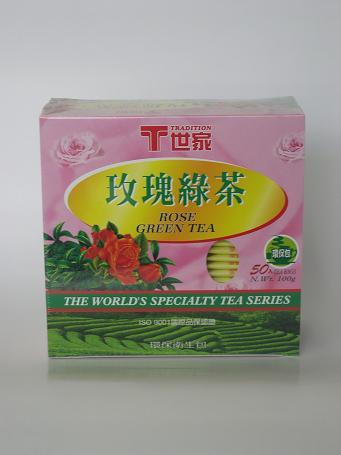 玫瑰綠茶 2g50入12盒 T世家