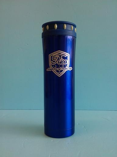 楓葉閃亮真空手拿杯 500ml 藍-飲品周邊器具-保溫瓶