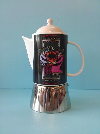 陶瓷摩卡壺602C 情侶-咖啡專業器材-摩卡壺及配件