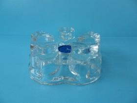 玻璃心型爐座+蠟燭-飲品周邊器具-登山爐